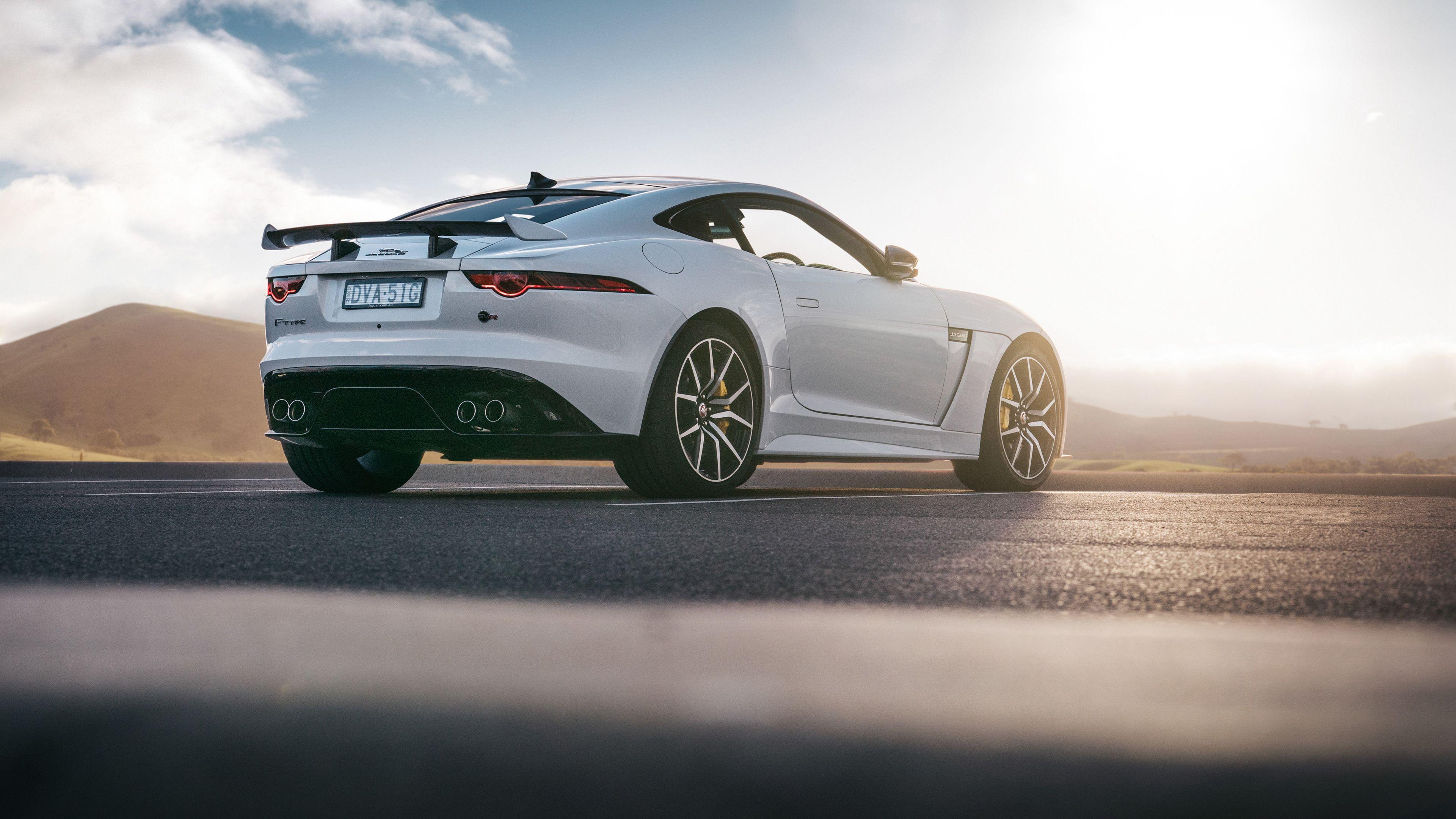 Wallpaper 4k Jaguar F Type Svr Coupe 2018 Rear 4k 2018 Cars