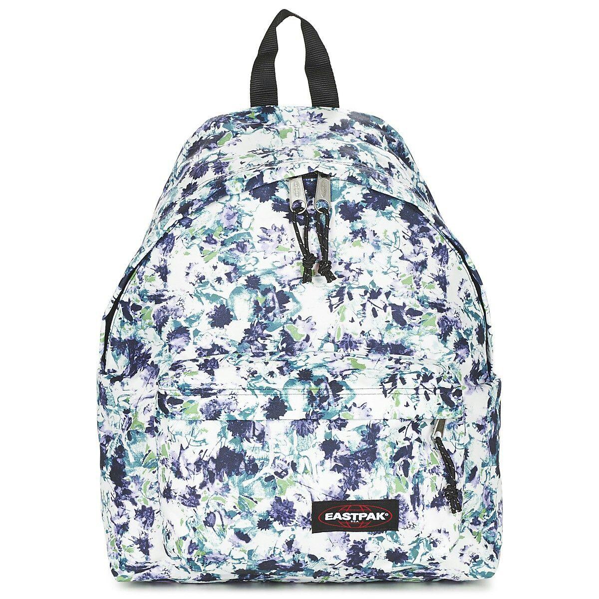 Sacs à dos Eastpak bleu fleurs, imprimé | achat sacs à dos