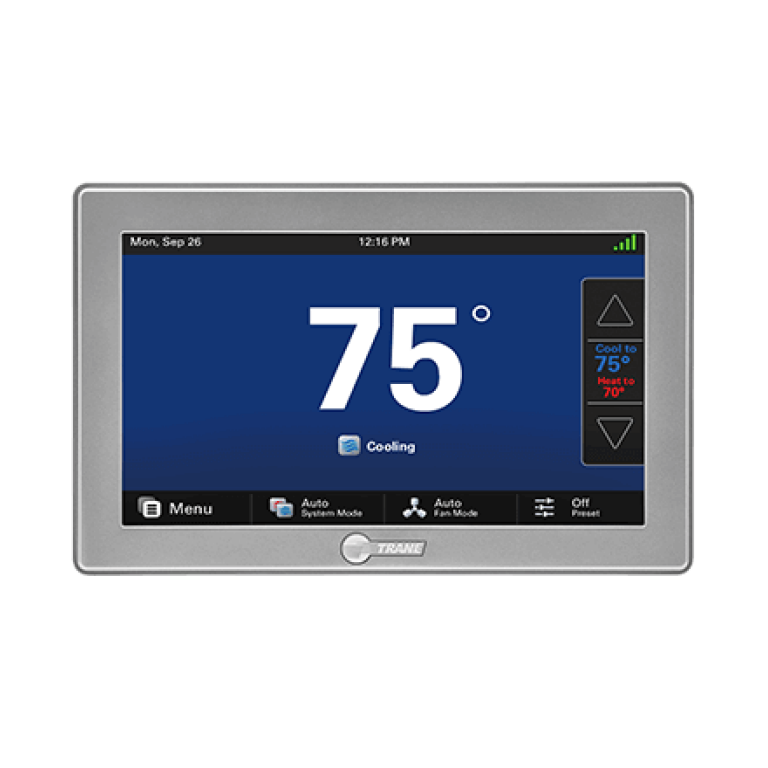 Trane Tzon1050ac52za Comfortlink Ii Xl1050 Wi Fi Thermostat Walmart Com In 2021 Trane Thermostat Wifi