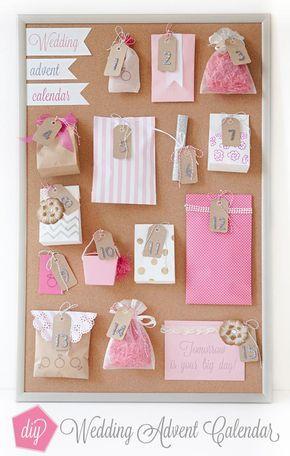 How to make a wedding advent calendar! Advent calendars and Weddings