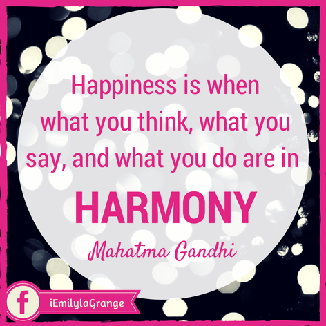 ❝Happiness is when what you think, what you say, and what you do are in harmony.❞  - Mahatma Gandhi  #Quotes #Inspiration #WAHM #WorkFromHome #WorkAtHome #Entrepreneur