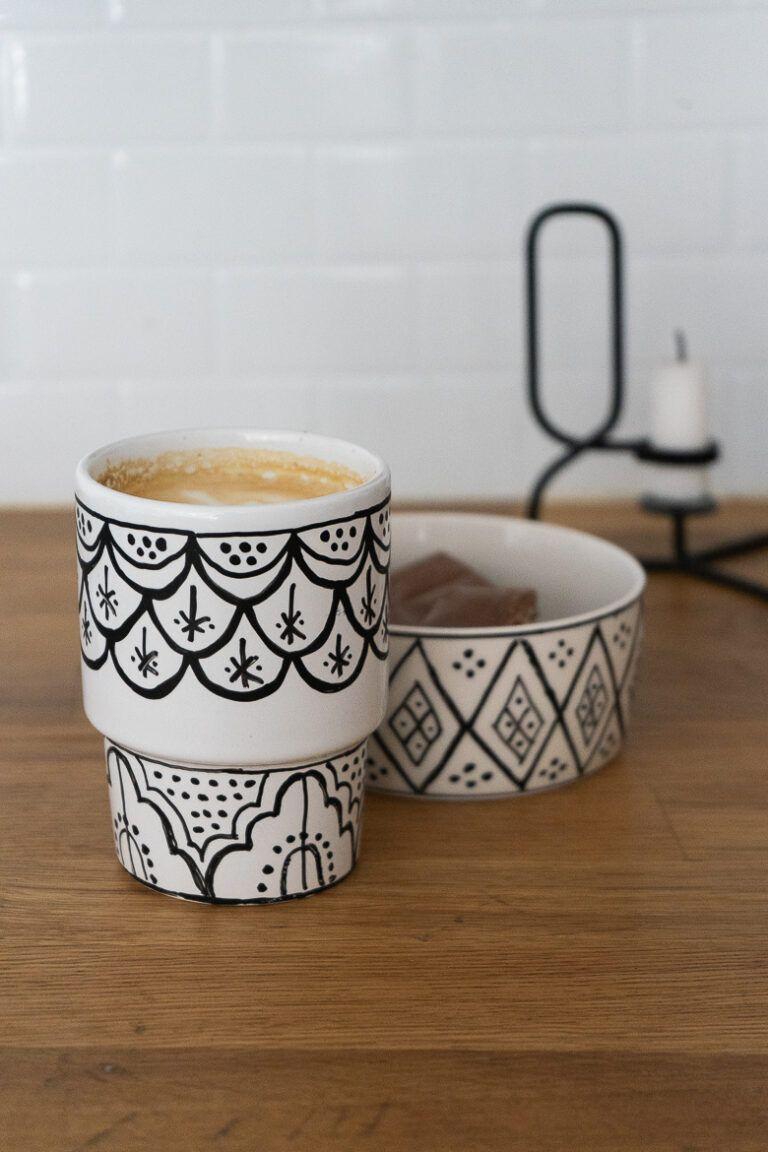 Porzellan Bemalen Marokkanisches Geschirr Selbst Gestalten Dreieckchen Porzellan Bemalen Porzellan Diy Geschirr