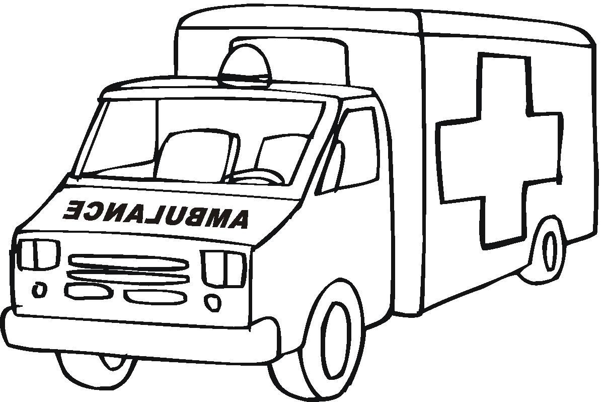 Ambulance Coloring Pages Preschool Cars Coloring Pages Ambulance Truck Coloring Pages
