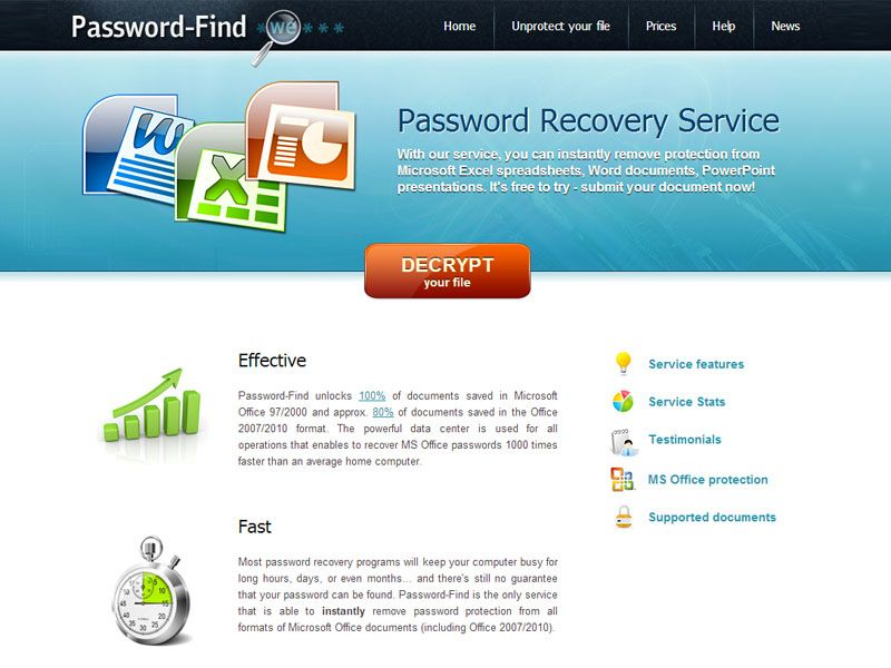 New Online Word And Excel Password Recovery Service Password Find