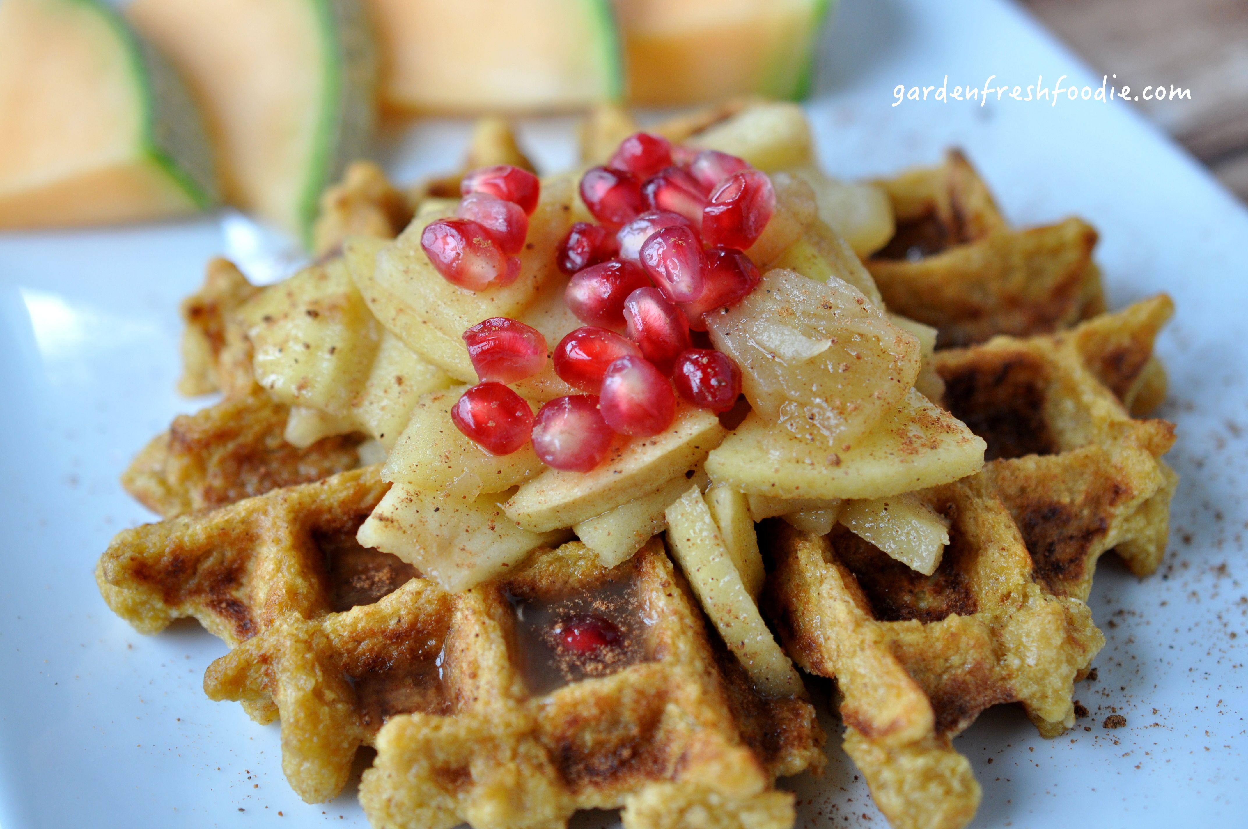 Vegan Pumpkin Waffle Pumpkin waffles, Vegan pumpkin