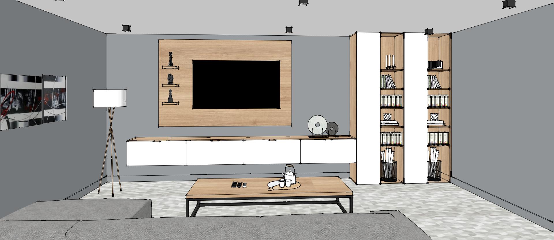 Un Meuble De Salon Moderne Deco Floor Plans