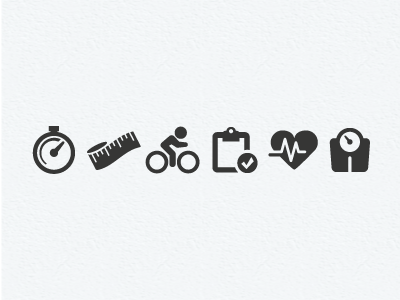 Fitness pictograms