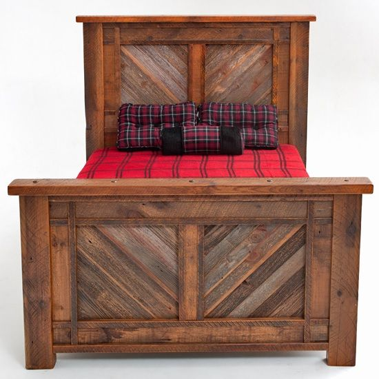 Barnwood Bed Herringbone Design - Item # BR04044 - Available in ...
