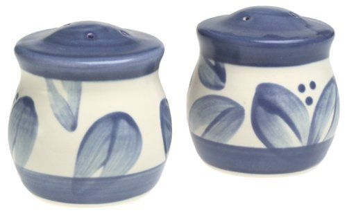 Pfaltzgraff Villa Flora Stoneware Salt And Pepper Set By