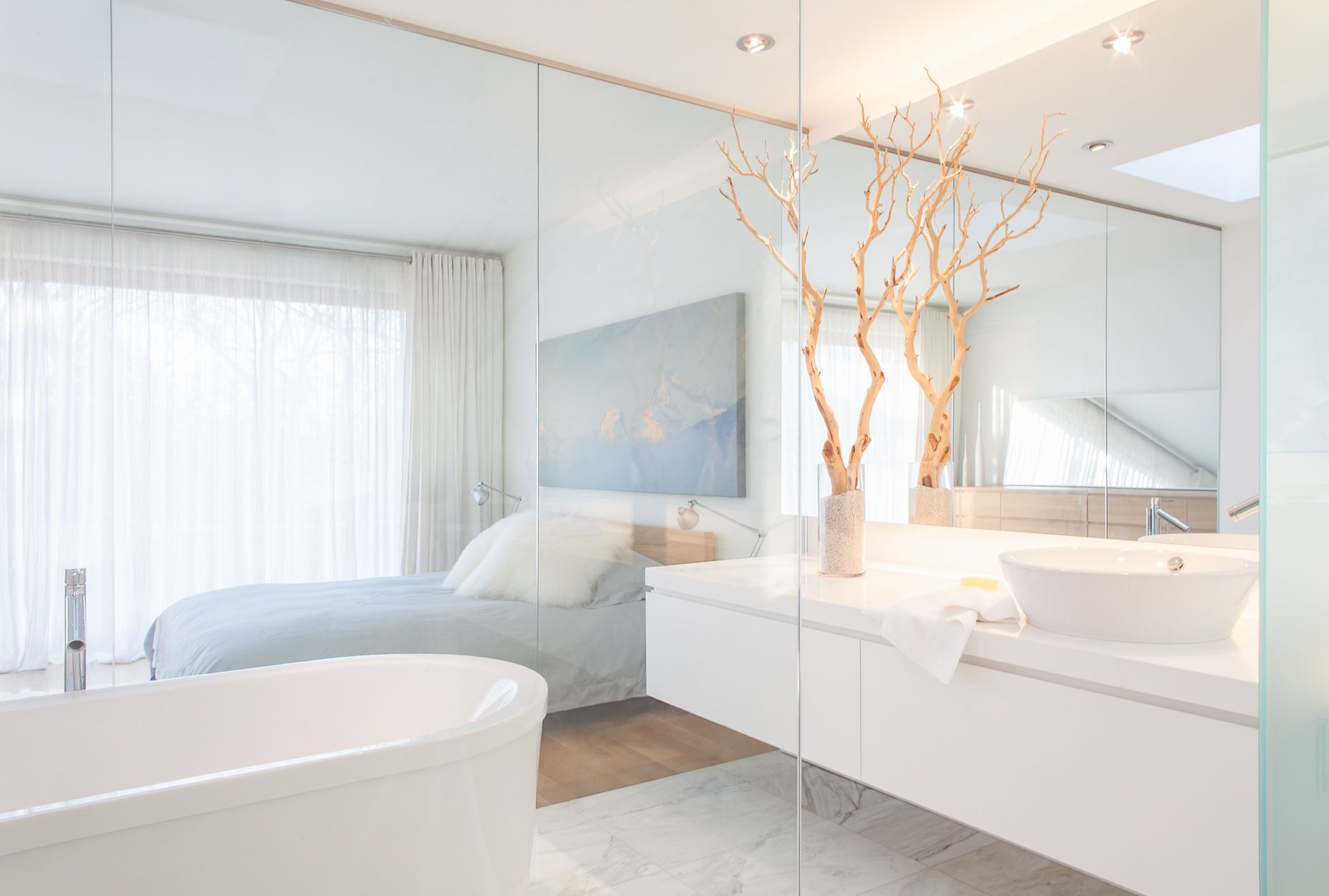 Modern Master Bath Oasis, Toronto Interior Design Photography, Airy ...