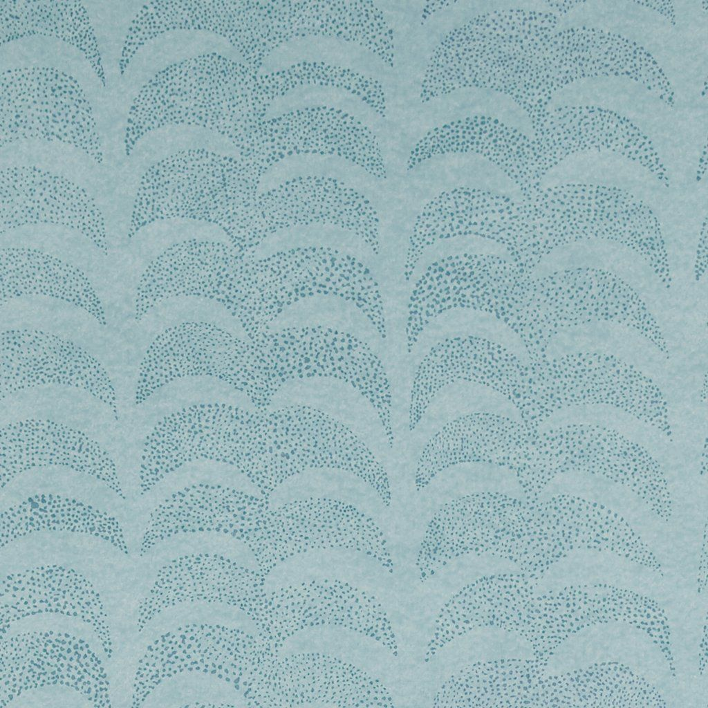 Dotted Palm Wallpaper in Blues PAPERED WALLS in 2019