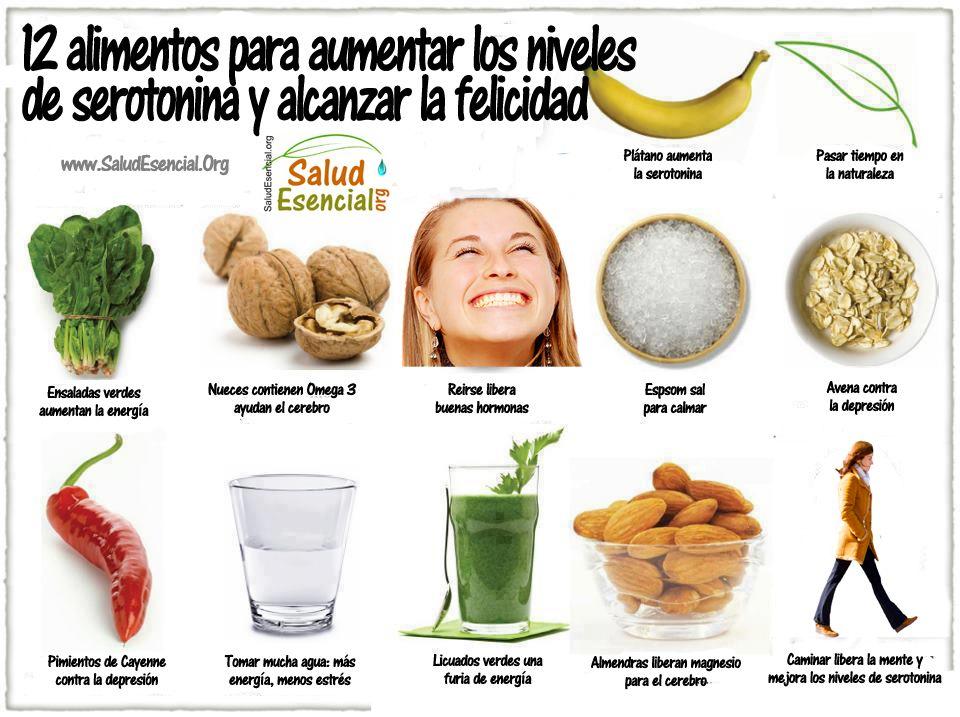 alimentos para incrementar serotonina