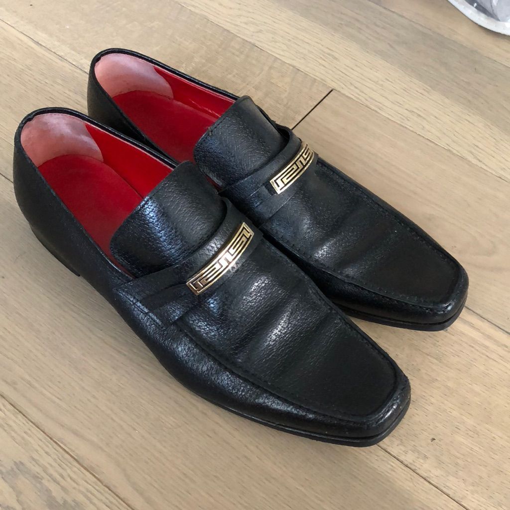 Men's Versace Dress Shoe w/ Gold Buckle