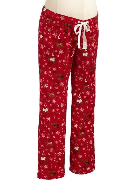 womens old navy maternity red snowflake reindeer flannel lounge pajama pants xs olianmaternity loungepantssleepshorts - Maternity Christmas Pajamas