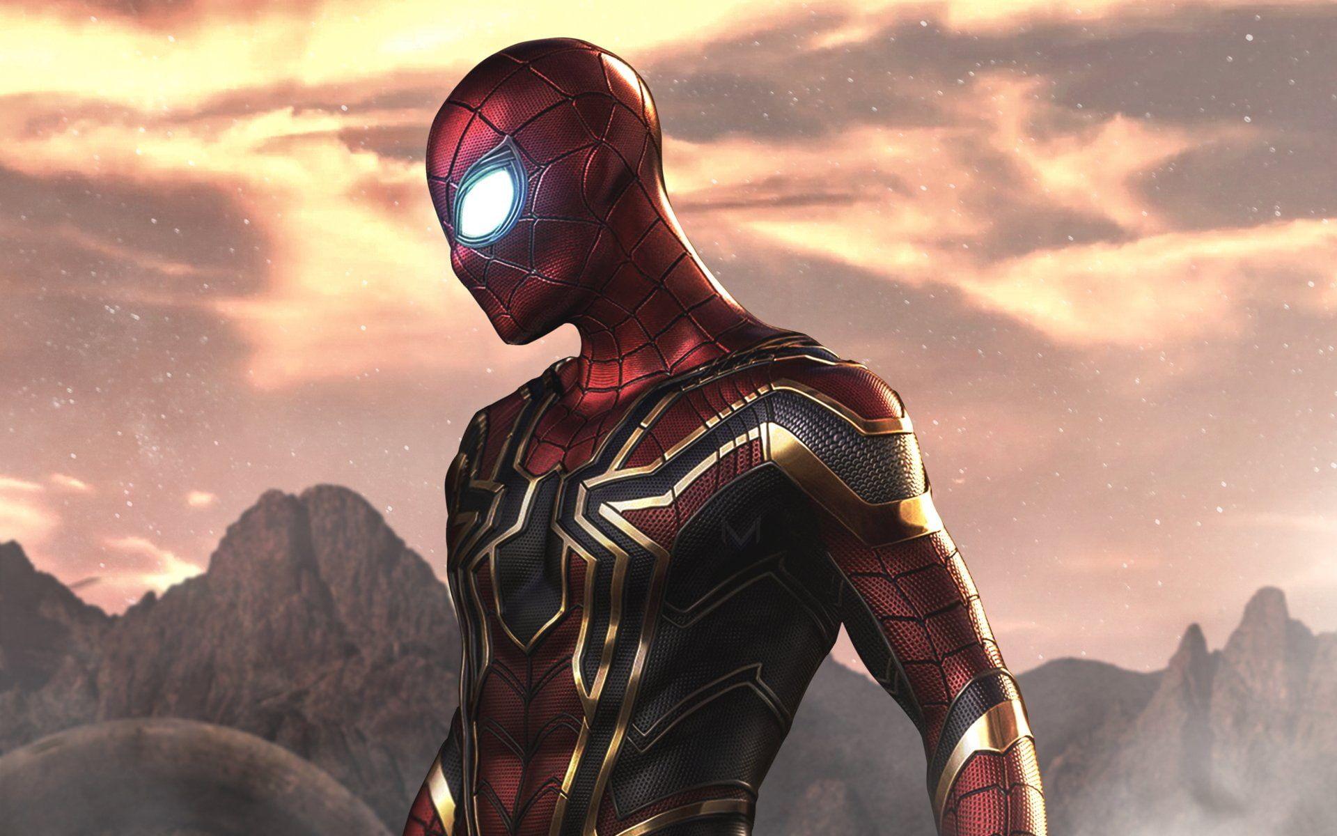 Movie Avengers Infinity War Iron Spider Marvel Comics Spider Man 1080p Wallpaper Hdwallpaper Desktop In 2020 Spiderman Superhero Avengers Wallpaper