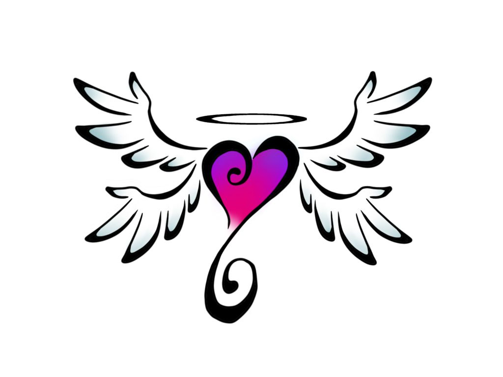 How To Draw A Heart With Wings  Clipart Best