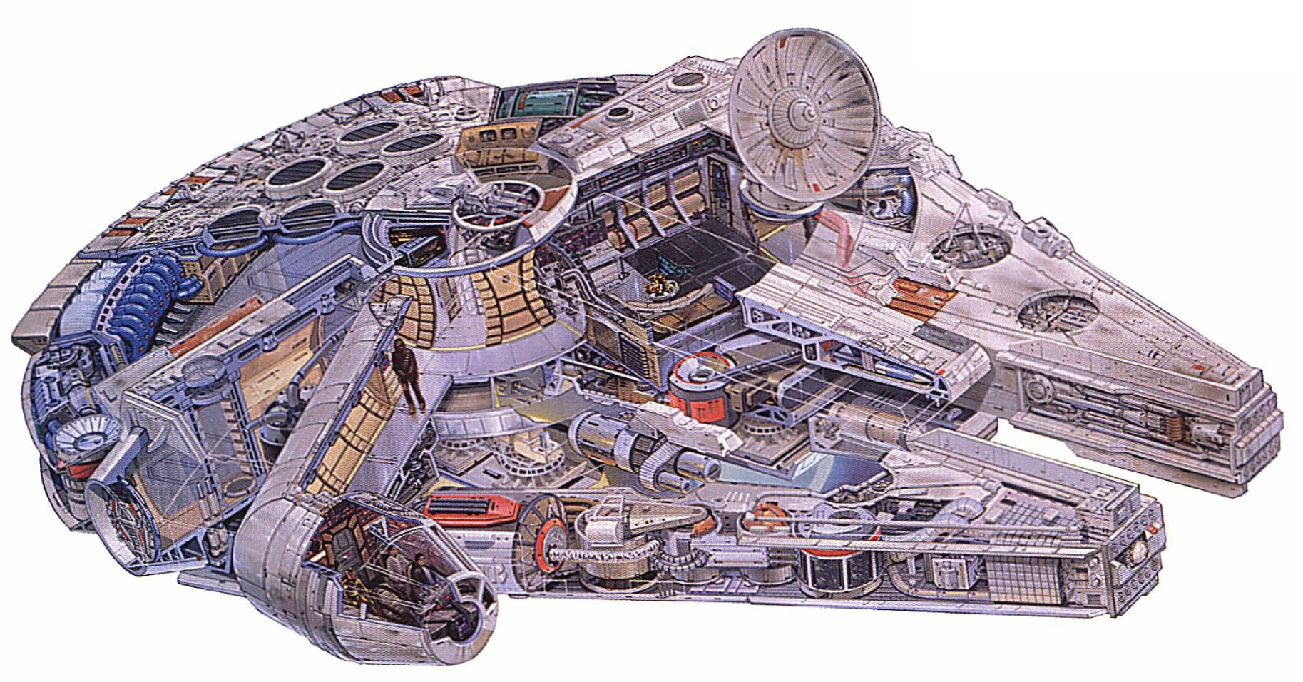 a cutout of the millenium falcon the ship of han solo harrison ford in star wars star wars. Black Bedroom Furniture Sets. Home Design Ideas