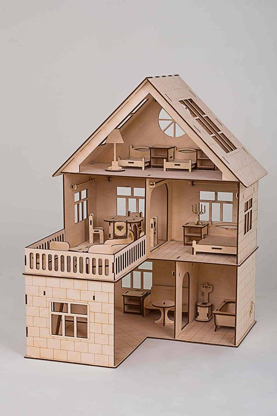 Modern Dollhouse Dollhouse Anastasia With Terrace Casa De Munecas De Carton Casa De Munecas Barbie Y Casa De Munecas En Miniatura