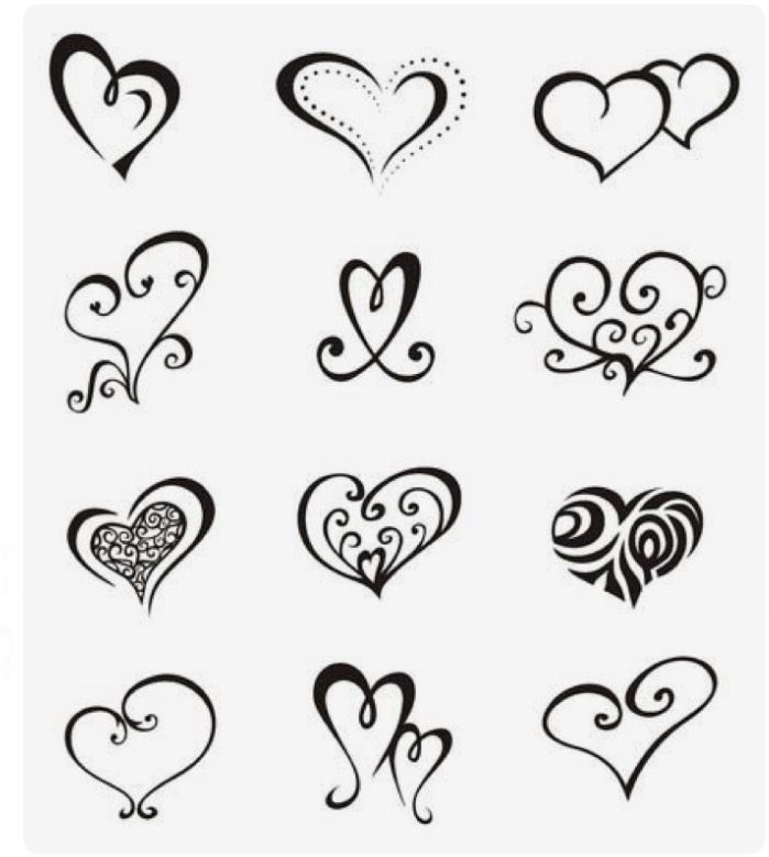 1000 Ideas About Heart Outline Tattoo On