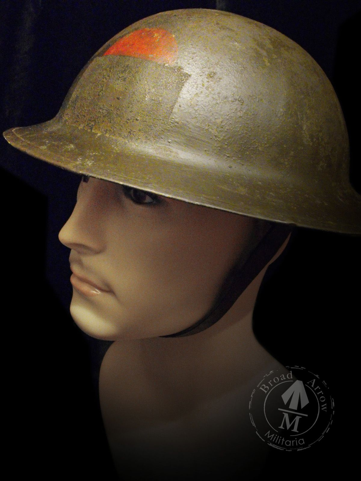 WW1 Brodie  A CEF issued helmet to the 75th Mississauga Horse