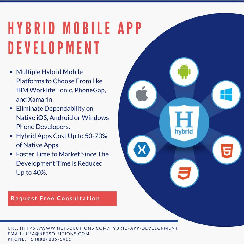 At Net Solutions we have a team of expert hybrid mobile