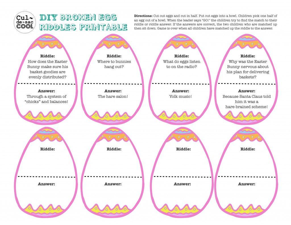 Uncategorized Easter Jokes For Kids 12 coolest kid easter party games diy broken egg riddles printable
