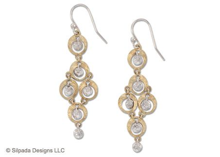 Out of this world! The exotic elegance of these Sterling Silver and Brass Earrings go the distance.
