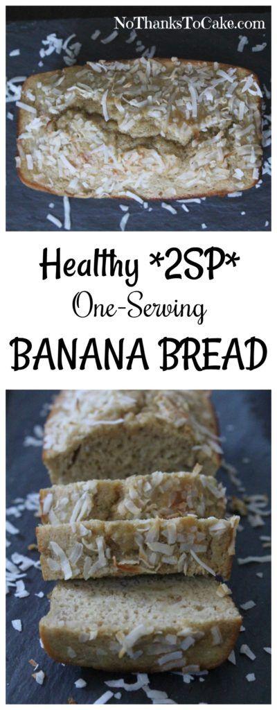 Healthy One-Serving Banana Bread