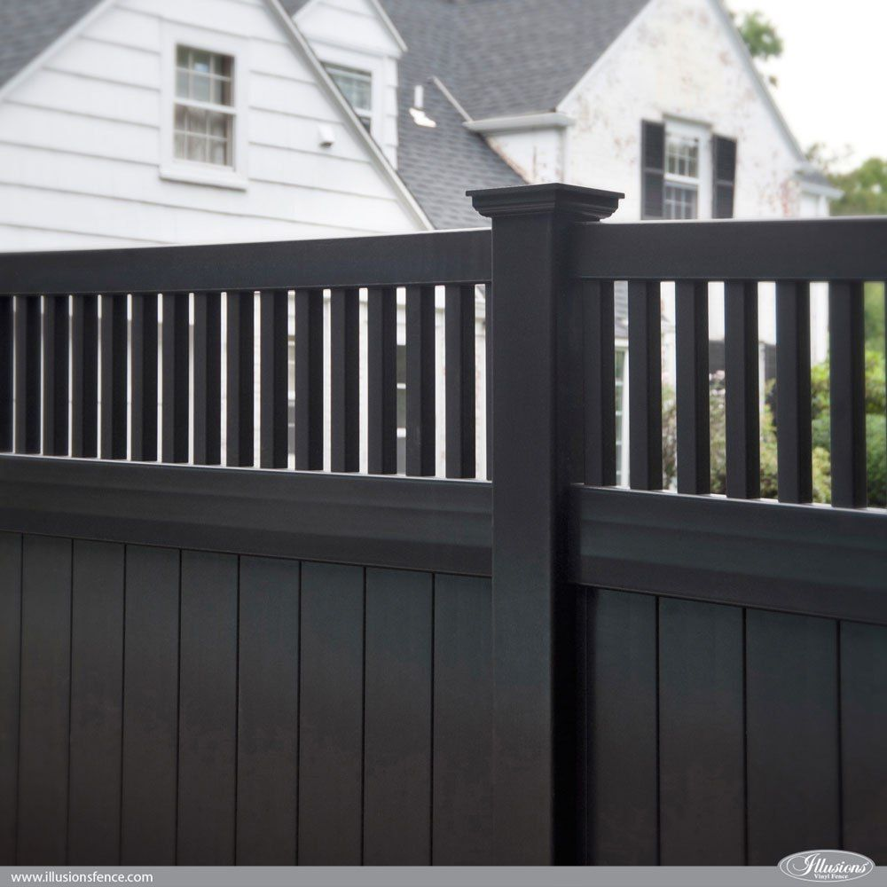 vinyl fence styles. Unique Vinyl Great Fence Idea Awesome Black PVC Vinyl Privacy Panels From  Illusions Vinyl Fence Style V37016L105 Fenceideas And Fence Styles P