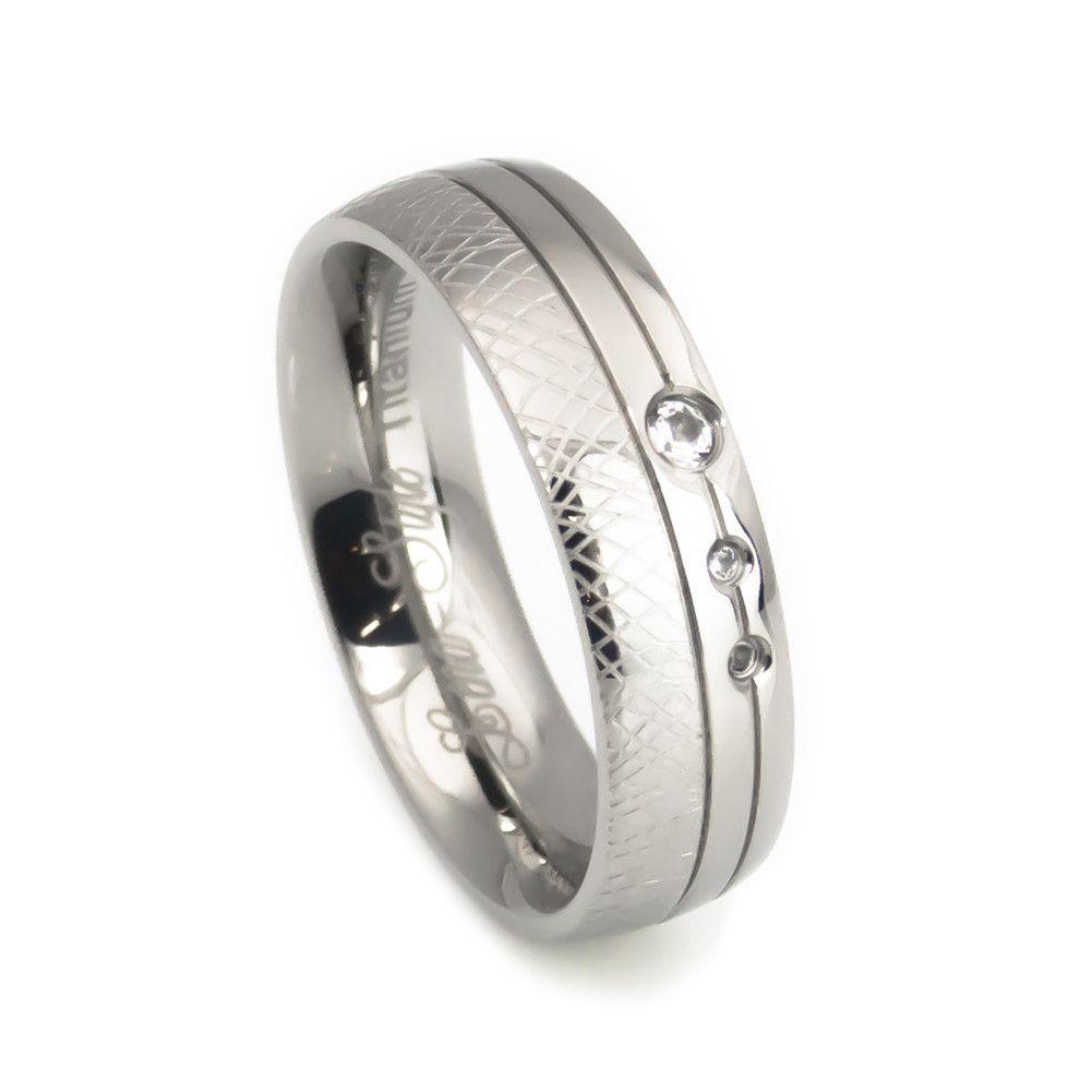 Unique crafted design titanium Wedding Band for women