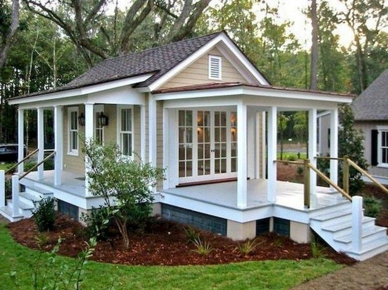 25 Inspiring Small Cottage House Plan Designs Ideas Smallhouse Housedesign Houseideas Small Cottage Homes Backyard Cottage Small Cottage House Plans
