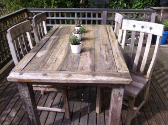 Genial Classic Table And Chair From Rustic Patio Design And Furniture Ideas Rustic  Patio Design And Furniture