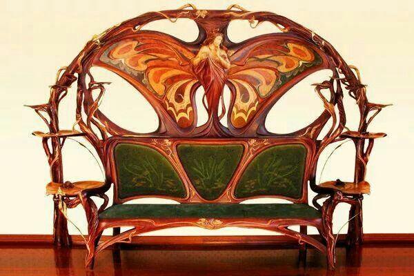 Art Nouveau bench