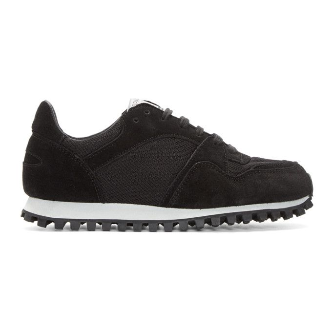 Marathon Trail Suede And Leather Sneakers - BlackSpalwart emXcP