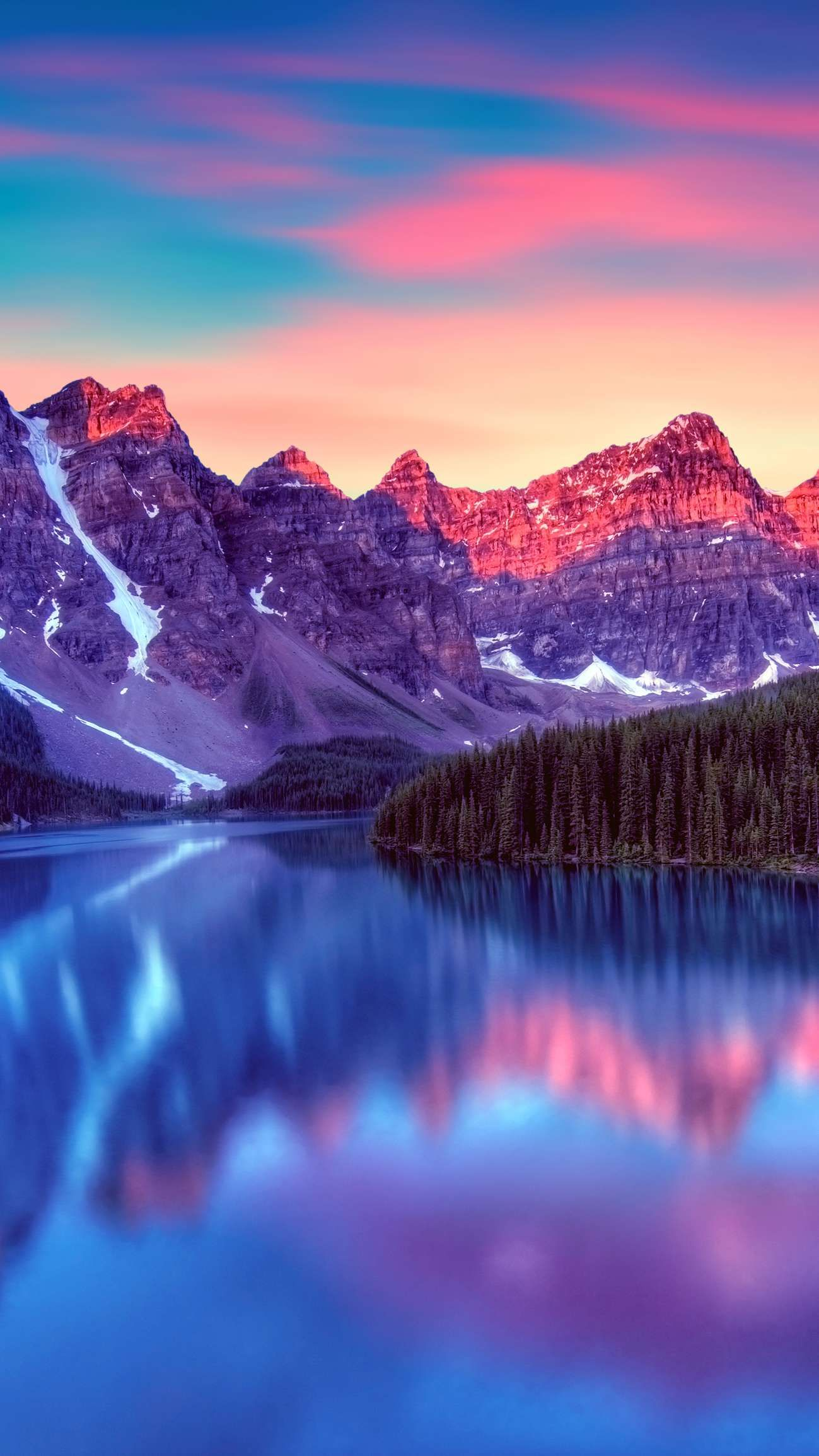 Canada Lake Blue Nature Snow Mountains Iphone Wallpaper Nature Iphone Wallpaper Hd Nature Wallpapers Iphone Wallpaper Landscape