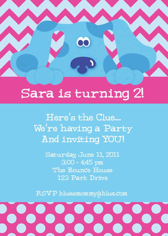 Blues Clues Birthday Invitation