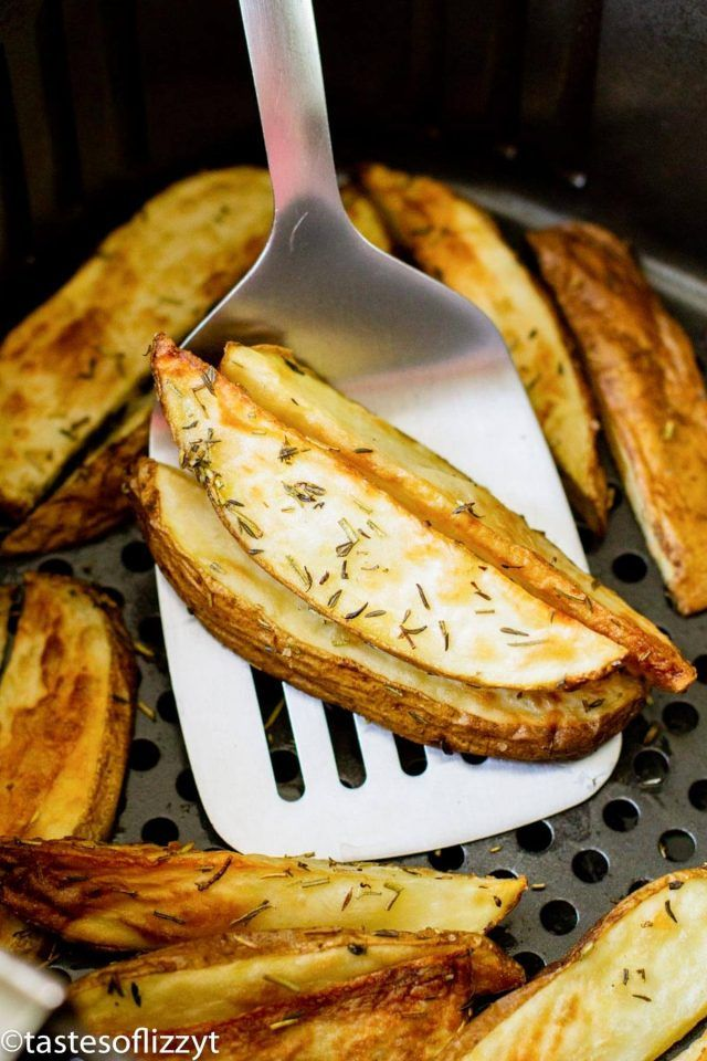 Air Fryer Herbed Potato Wedges Recipe Smart Points 5 in