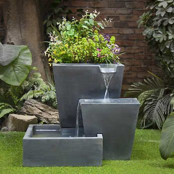 Three Tier Planter Fountain