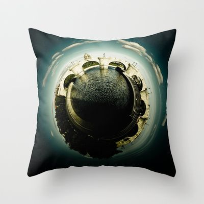 Toledo's Bridge Little Planet Throw Pillow by Ines Valencia - $20.00