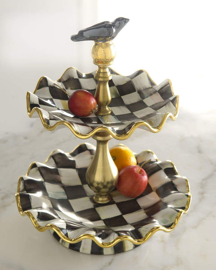 Mackenziechilds courtly check 2tier stand whimsical