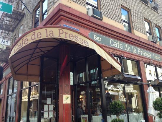 Fachada do Cafe - Picture of Cafe De La Presse, San Francisco ...