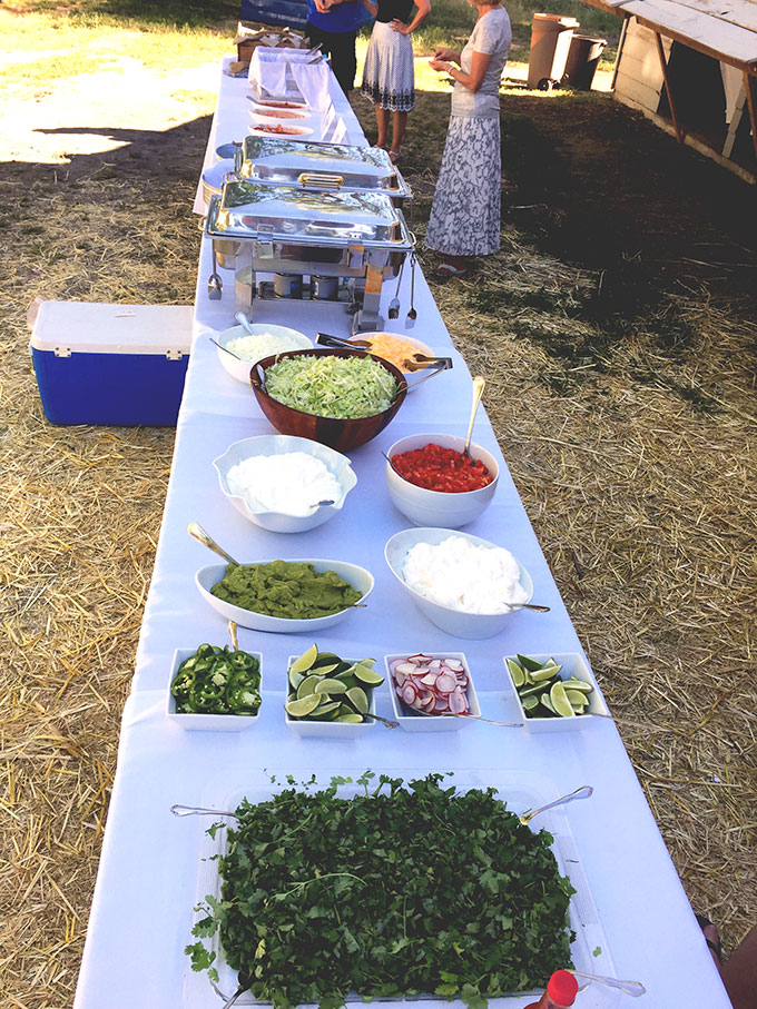 The Wedding And Taco Bar For 150 Bound By Food Taco Bar Wedding Taco Bar Wedding Reception Food