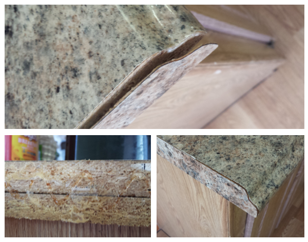 How To Fix A Laminated Kitchen Benchtop Countertop Repair Laminate Kitchen Laminate Benchtop