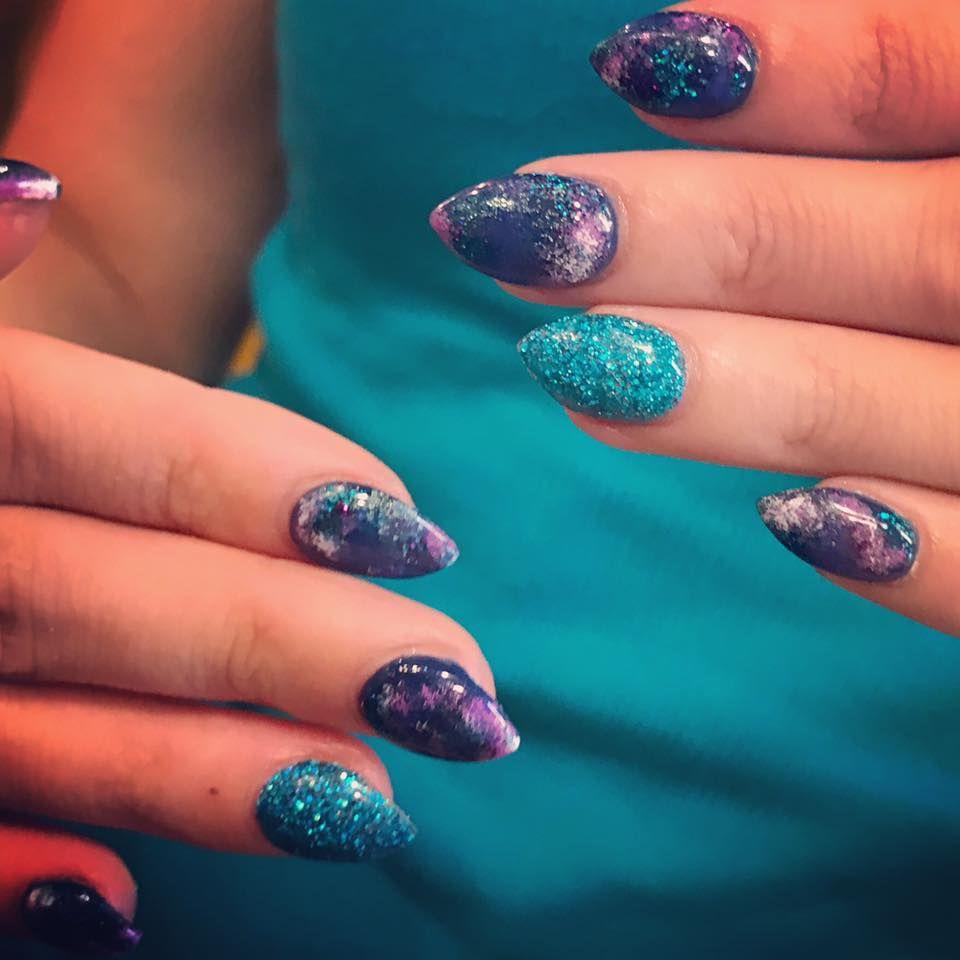45 Beautiful Galaxy Nail Art Design Ideas | Galaxy nail art, Galaxy ...