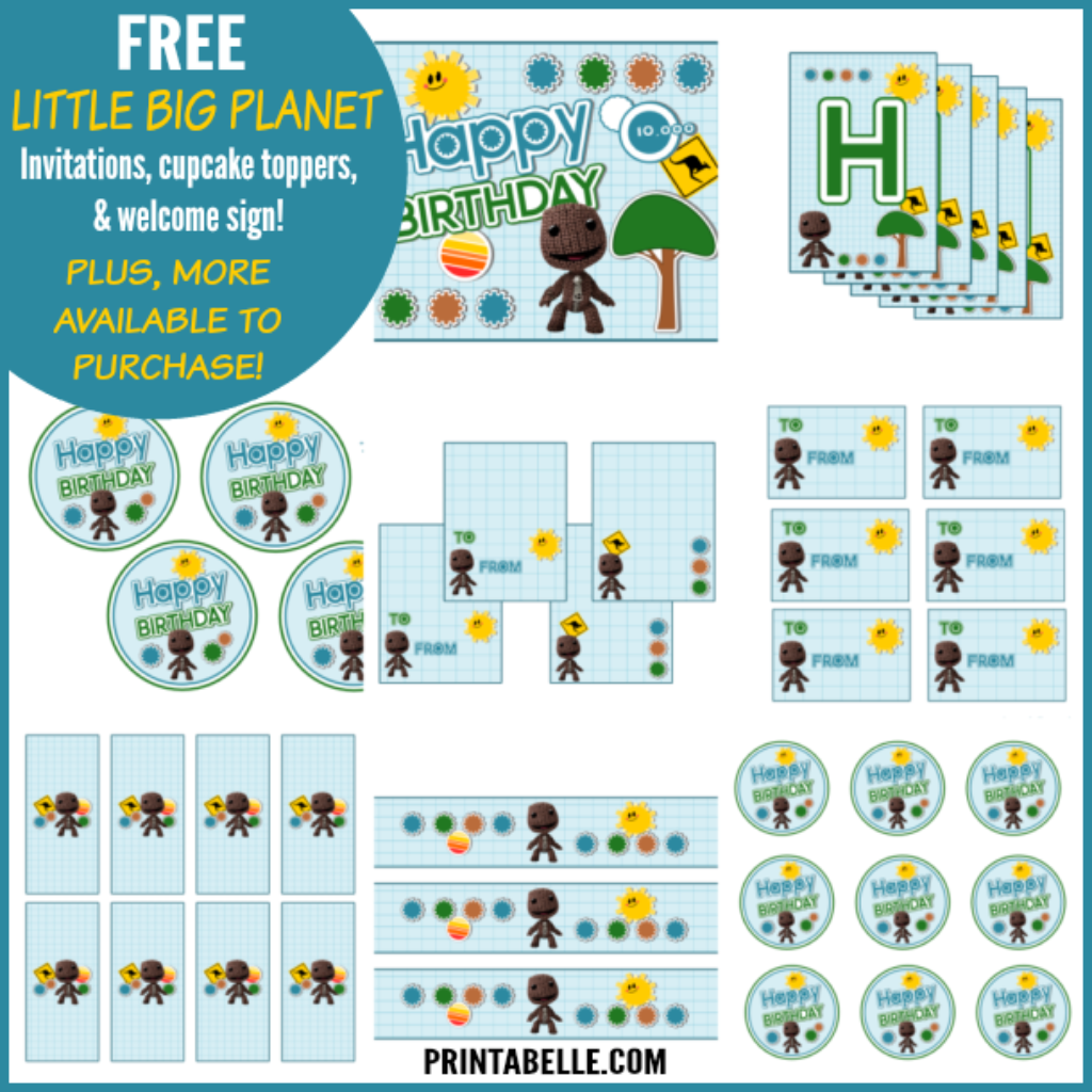 Free Little Big Planet Party Printables
