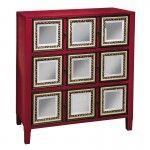 PULASKI Furniture - Red & Mirror Accent Chest - 641113