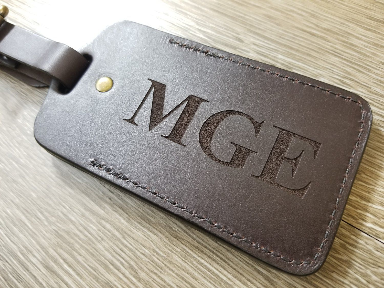 Luggage Tag Custom Initial Black Leather Customized Luggage Tag Wedding Favor Travel Accessories Personalized Leather Gift for Couples