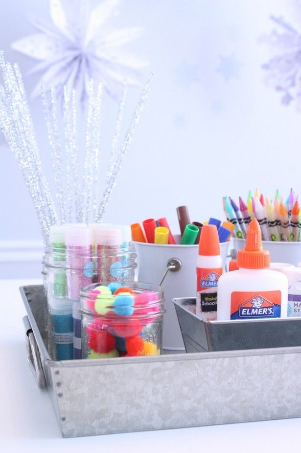 Craft Room Ideas   Portable Kids Craft Station
