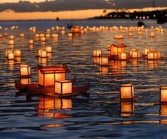 One day, alone in the lake, with lights around and sunset... That's what I wanted.