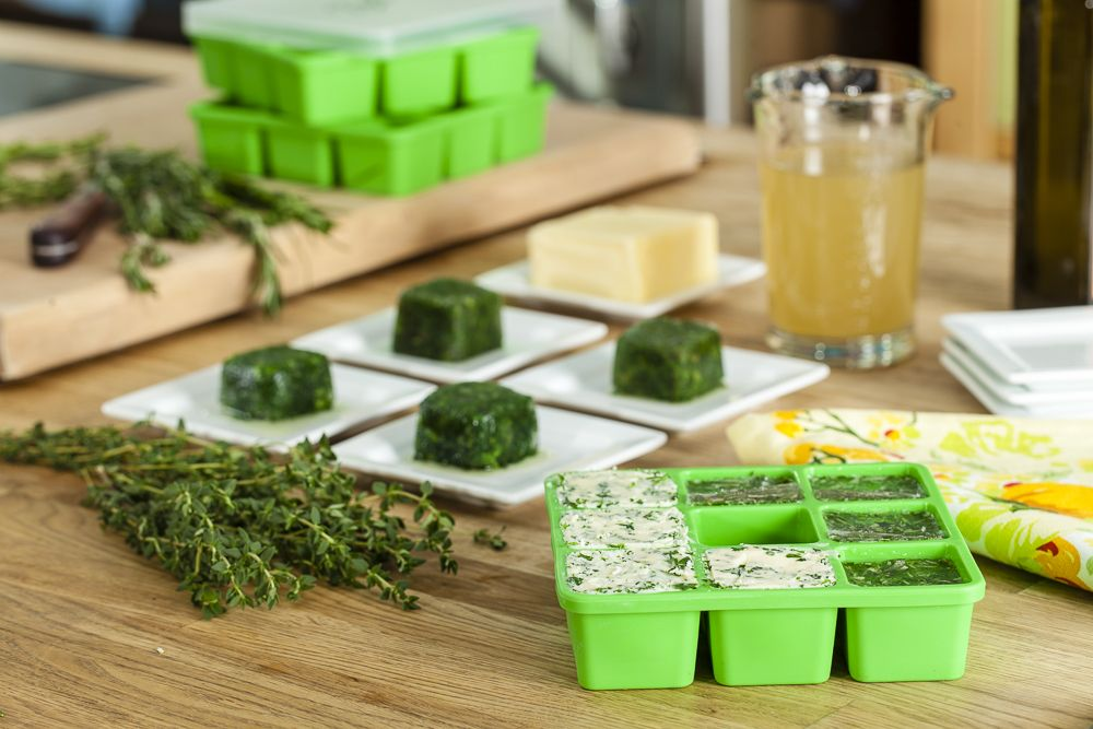 Introducing Bernardin Frozen Herb Starters! Preserve the freshness of your garden with these food-safe, superior grade silicone trays. Comes with a snap-on lid to prevent cross contamination/freezer burn, as well as custom recipe guides and labels! Now available at Walmart.ca (@Walmart Canada)! #gardening #recipes #cooking #herbs
